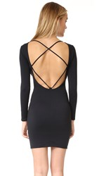 David Lerner Strappy Back Dress Classic Black
