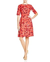 Anne Klein Floral Belted Twill Dress