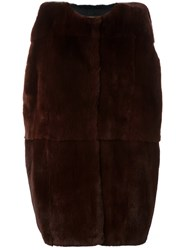 Marni Rabbit Fur Gilet Brown
