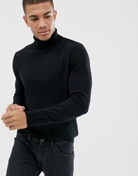 New Look Roll Neck Jumper In Black