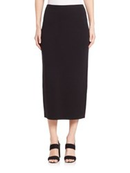 Eileen Fisher Silk And Organic Cotton Pencil Skirt Black