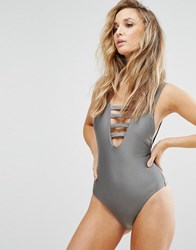 Evil Twin Misty Swimsuit Pewter Grey