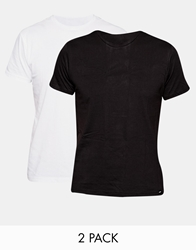 Lee Twin Pack T Shirt Slim Fit Grey And Black Basic Jersey 2Packmix