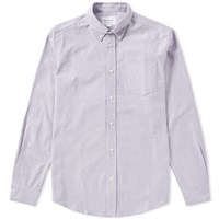 Tripl Stitched Button Down Oxford Shirt Purple