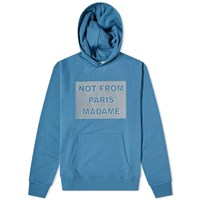 Drole De Monsieur Embroidered Not From Paris Madame Hoody Blue