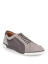 Cole Haan Quincy Suede And Mesh Sport Oxfords Irnstone