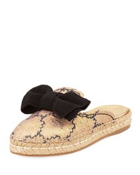 Prada 20Mm Bow Mule Espadrille Blue