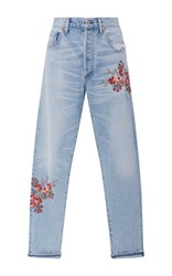 Citizens Of Humanity Liya High Rise Floral Jeans Light Wash