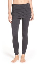 Zella Women's 'Layer Me Up' Skirted Leggings Grey Dark Charcoal Heather
