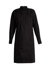 Isabel Marant Samuel High Neck Cotton Dress Black