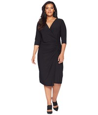 Kiyonna Vixen Cocktail Dress Black Noir