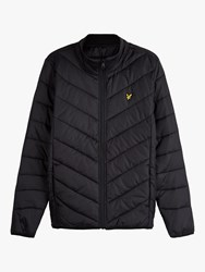 Lyle And Scott Quilted Nylon Jacket True Black