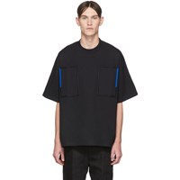 Jil Sander Black Embroidery T Shirt