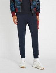 Alpha Industries Skinny Cotton Jersey Jogging Bottoms Repl. Blue