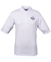 Antigua Men's Short Sleeve Tampa Bay Rays Exceed Polo White