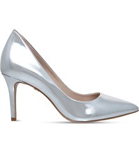 Kg By Kurt Geiger Bella Metallic Leather Court Shoes Silver
