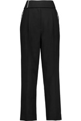 Jason Wu Belted Wool Tapered Pants Black