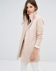 Vila Funnel Neck Coat Shifting Sand Beige