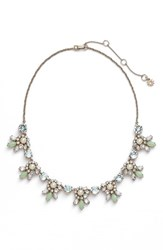 Women's Marchesa Crystal Cluster Bib Necklace Mint Gold