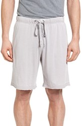 Daniel Buchler Men's Burnout Lounge Shorts Light Grey