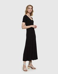 Farrow Aarav Ribbed Dress Black