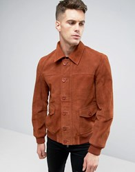 Barney's Barneys Premium Suede 70'S Style Lined Harrington Jacket Tan