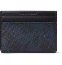 Burberry Printed Pvc And Leather Cardholder Navy