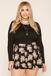 Forever 21 Plus Size Floral Print Shorts