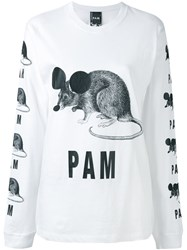 P.A.M. Perks And Mini Pam We Got Numbers T Shirt Women Cotton M White