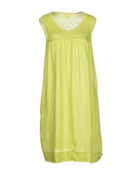 120 Lino 120 Lino Short Dresses Acid Green