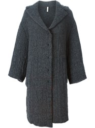 Boboutic Asymmetric Oversized Coat Grey