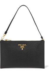 Prada Textured Leather Pouch Black