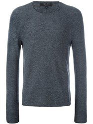 Rag And Bone Collar Contrast Pullover Grey