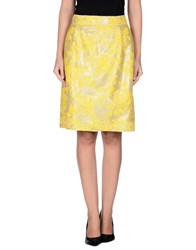Roccobarocco Skirts Knee Length Skirts Women Yellow
