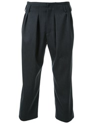 Fad Three Cropped Tailored Trousers Grey