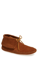 Minnetonka Fringe Boot Men Brown