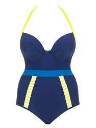 Curvy Kate Maya Halterneck Swimsuit Blue