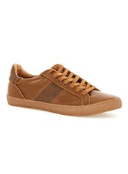 Topman Brown Tan Faux Leather Trainers