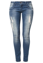 Fresh Made Slim Fit Jeans Middle Blue Denim
