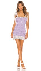 For Love And Lemons Lilac Mini Dress In Purple. Lavender