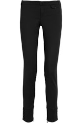 Gucci Leather Trimmed Cotton Blend Riding Pants Black