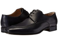 A. Testoni Delave Calf Derby Navy Men's Shoes