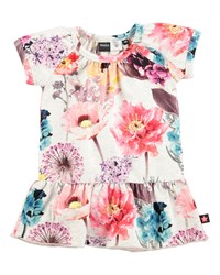 Molo Cibbe Floral Shift Dress Hyper Bloom