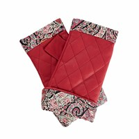 Gizelle Renee Page Fucshia Pink Leather Gloves With Bb Liberty Tana Lawn Pink Purple