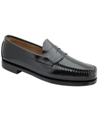 Bass Logan Weejuns Flat Strap Penny Loafers Men's Shoes Black
