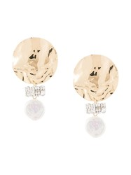 Rachel Comey Gold And Pearl Earrings