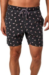 7 Diamonds Stir It Up Swim Trunks Black
