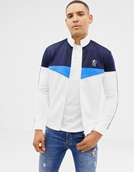 Gym King Muscle Funnel Track Jacket In White