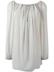 Vivienne Westwood Red Label Flared Longsleeved Blouse Nude And Neutrals