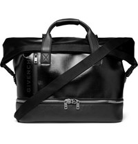 Givenchy Jaw Textured Coated Canvas And Full Grain Leather Holdall Black